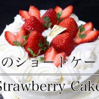 苺が乗ったショートケーキ