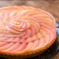 桃のゼリータルト